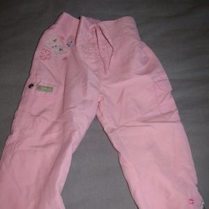 Girls size 3t cherokee pink pants, with butterfly